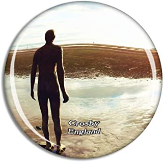 Crosby Antony Gormley's Another Place UK England Fridge Magnet Travel Gift Souvenir Collection 3D Crystal Glass Sticker
