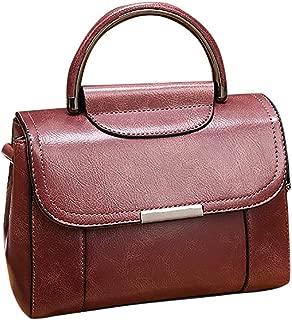 Waymine Women's Bag Leather Messenger Bags Handbags Shoulder Bag Solid Small Flap Cion Phone Bag