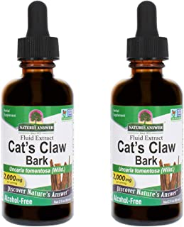 Nature's Answer Cat's Claw Inner Bark | Supports Healthy Joint & Muscle Function | Gluten-Free, Alcohol-Free, Vegan, Koshe...
