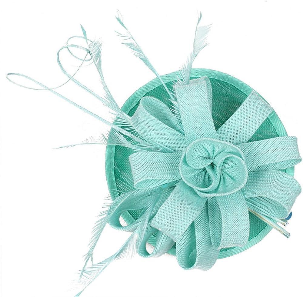 Imitation Sinamay Fascinator Feather for Kentucky Derby Church Wedding SYF133