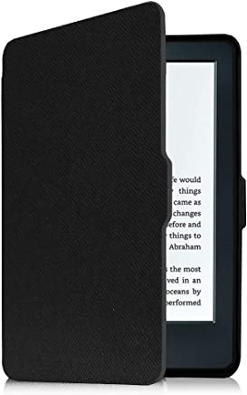 "Fintie Case for Kindle E-Reader (8th Generation 2016) - The Thinnest and Lightest Slim Shell Cover Auto Wake/Sleep for Amazon Kindle (6"" Display, 8th Gen 2016 Release), Black"