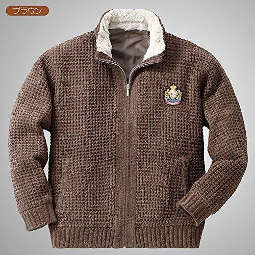『裏地付き 柔らか ニットジャケット ACPR-2217 しおり型ルーペ付き (LL, ブラック)』の5枚目の画像