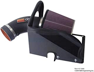 K&N Cold Air Intake Kit with Washable Air Filter: 1999-2005 Chevy/Pontiac (Impala, Monte Carlo, Grand Prix) 3.8L V6, Black HDPE Tube with Red Oiled Filter, 57-3045