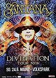 Santana - Divination, Mainz 2018 » Konzertplakat/Premium