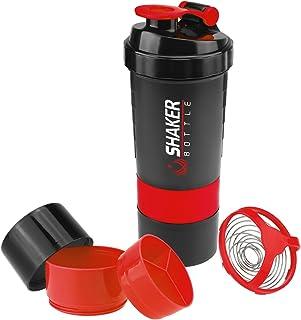 VIGIND 2 Pack 22 OZ Protein Shaker Bottles Fitness Sports Nutrition Supplements Mix Shake Bottl with 16oz Shaker Bottle and 3-Layer Twist Lock Storage, 100% BPA-Free Leak Proof