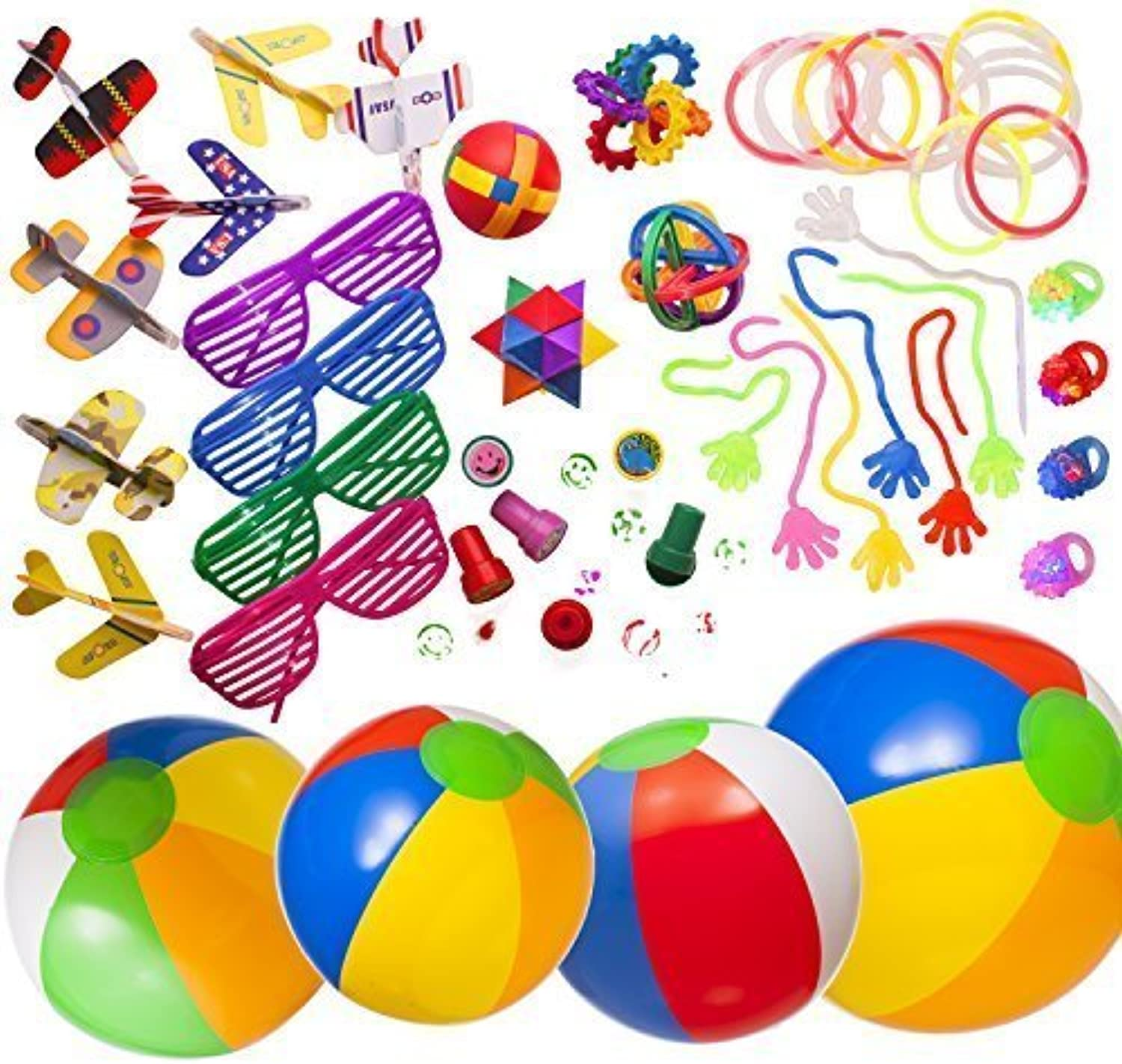 Great Summer and Party Assortment 50 pieces as illustrated sold by  Smart Novelty by Smart Novelty