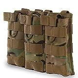 Tactical MOLLE Triple Open Top Revista Bolsa Rápido AK AR M4 FAMAS Mag Militar Bolsa al aire libre Paintball Airsoft 1000D Nylon