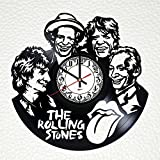 Wall Clock from Real Vinyl Rolling Stones, Rolling Stones Original Wall Poster, Rolling Stones Decal, Best Gift for Fans