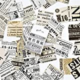 BLOUR 45 Unids/Caja Conjunto de Pegatinas de Papel de Periódico Inglés Pegatinas de Papelería Decorativa Scrapbooking DIY Diario Álbum Stick Lable