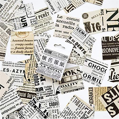 BLOUR 45Stücke / Karton Englisch Zeitung Papier Aufkleber Set Dekorative Schreibwaren Aufkleber Scrapbooking DIY Tagebuch Album Stick Lable