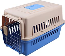 ZRL77y Pet Air Box Dog Cat Consignment Box Travel Box Transport Cat Cage Two-Door Top-Load Pet Kennel Plastic Pets Kennel ...