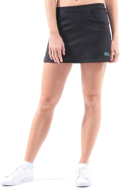 SPORTKIND - Falda de Tenis (con pantalón Integrado), Color Negro