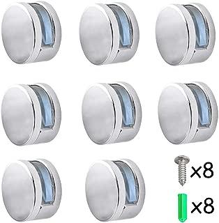 Hoteles Abrazadera de cristal para espejo INTVN 8 Pcs Soporte de Estante de Clip de Vidrio de Aleaci/ón de Zinc Para 4-7 mm Ampliamente utilizado en ba/ños