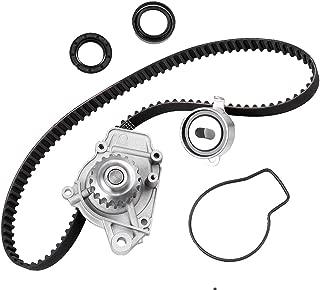 SCITOO Timing Belt Water Pump Tensioner Kit Automotive Replacement Timing Parts Belt Sets Fits 1988-1991 Honda Civic DX LX Base 1.5L L4 16V SOHC D15B2
