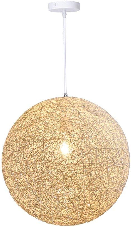 RBB Lustre créatif de rougein de Chanvre de Mode, plafonnier de Style Nordique, éclairage décoratif de Balcon de Salon de Restaurant,20  20CM