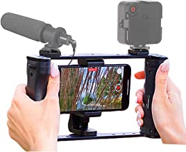 KobraTech Smartphone Video Rig - The UltraGrip Pro iPhone Rig & Single Grip Handle - with Phone Mount & Bluetooth Remote