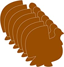 "product image for 5.5"" Turkey Single-Color Creative Paper Cut-Outs, 31 Cut-Outs in a Pack for Fall and Thanksgiving Décor and Kids' Craft Projects for School/Classroom."