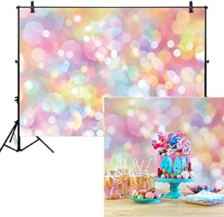 Allenjoy 8x6ft Colorful Bokeh Backdrop for Photography Polka Dots Shiny Sparkle Love 1st Birthday Pets Newborn Baby Shower Party Supplies Decor Portrait Background Makeup Product Photo Studio Props