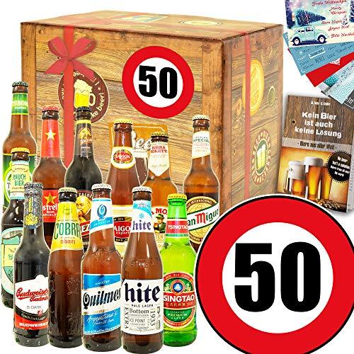 Ideen zum 50. für Männer + Geschenke Geburtstag Bier + Bier aus der Welt