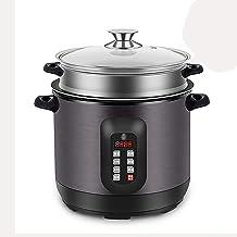 Rice Cooker en stoom (2,5 / 4 l) 304 roestvrijstalen voering, warme functie, met spatel en maatbeker, voor 1-4 personen (m...