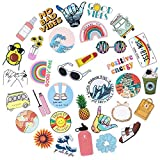 Cute VSCO Stickers for Water Bottles, 35 Pack Trendy Aesthetic Waterproof Vinyl Stickers for MacBook Computer Phone Travel, Durable Stickers for Teens Girls (Multi-Colorful)