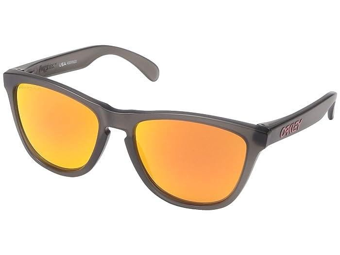 Oakley Frogskins (Matte Grey Smoke w/ PRIZM Ruby Polarized) Sport Sunglasses