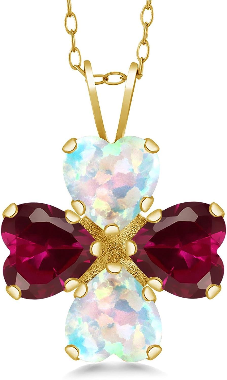 Gem Ranking TOP19 Stone King 3.42 Ct White Ruby Seasonal Wrap Introduction 18K Simulated Opal Yel Created