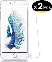 NEW'C Verre Trempé pour iPhone 6 Plus, 6s Plus,[Pack de 2] Film Protection écran - Anti Rayures - sans Bulles d'air -Ultra Résistant (0,33mm HD Ultra Transparent) Dureté 9H Glass
