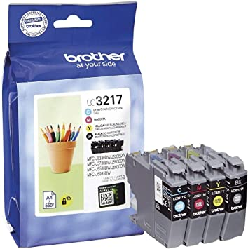 Brother Lc 3217 Value Pack Of Multicolour Ink Cartridges Black Cyan Yellow And Magenta Bürobedarf Schreibwaren
