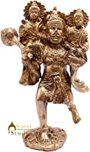 StatueStudio Handcrafted Lord Hanuman Statue Carry Lord Rama & Lord Laxmana Religious Idol for Home Brass Bajrangbali Idol...