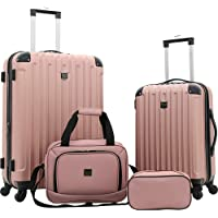 4-Piece Travelers Club Midtown Hardside Spinner Luggage Set