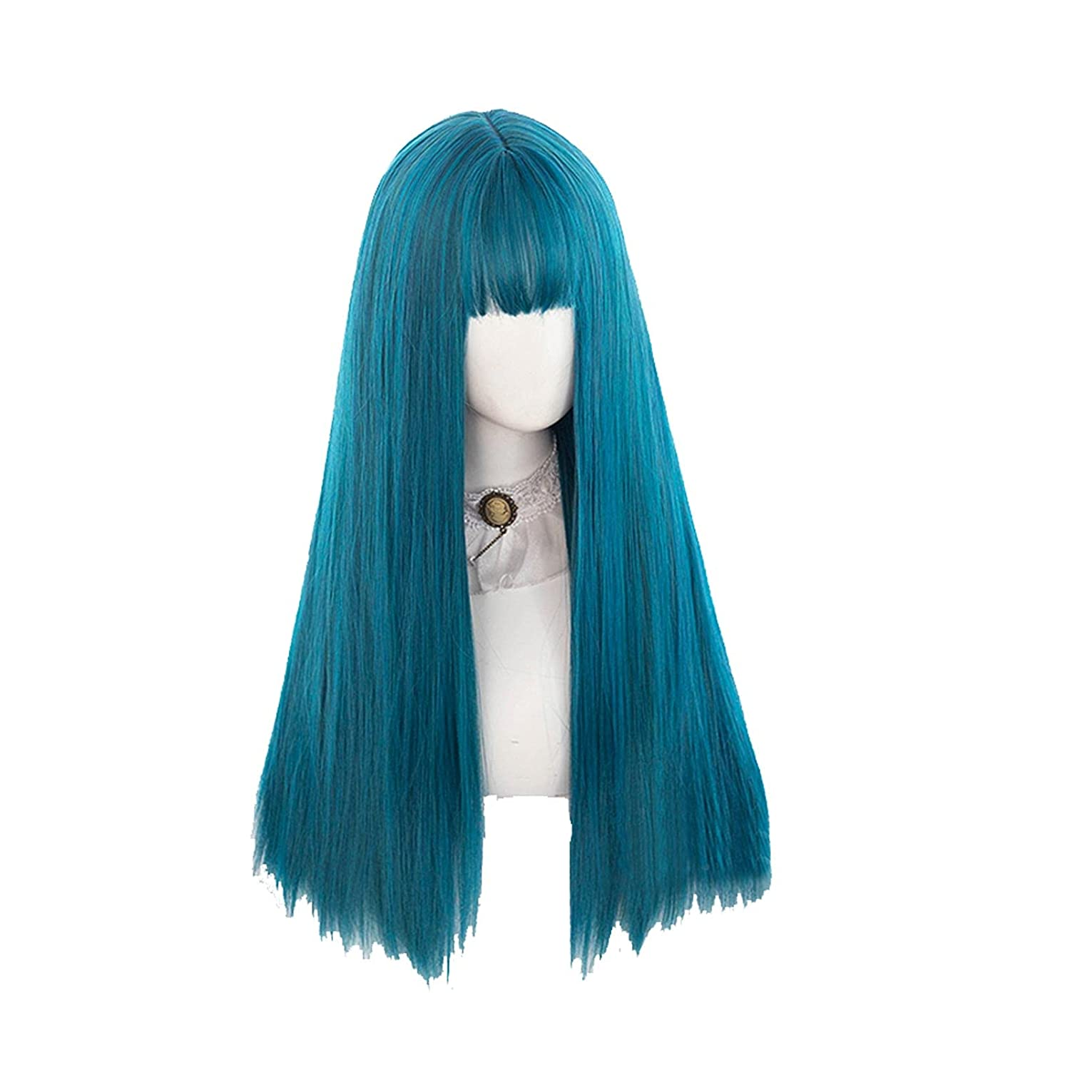 wigs Louisville-Jefferson County Mall 23.6inches Cosplay Wig Long Synth Bangs Lady Austin Mall Party Straight