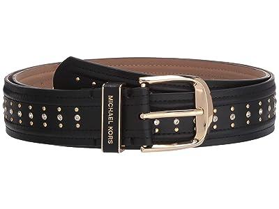 MICHAEL Michael Kors 38 mm Studded Belt (Black) Women