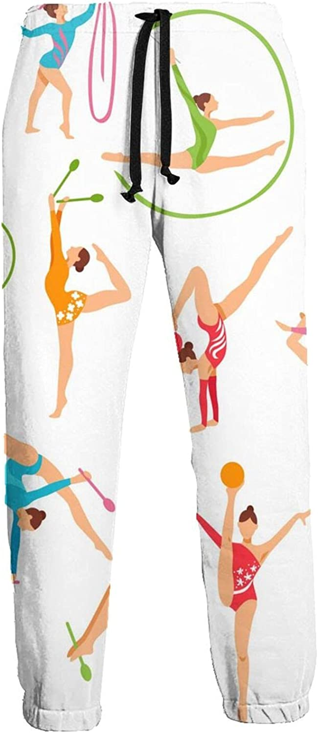 Mens Jogger Sweatpants Gymnastics Girl Lightweight Workout Athletic Joggers Pants Trousers
