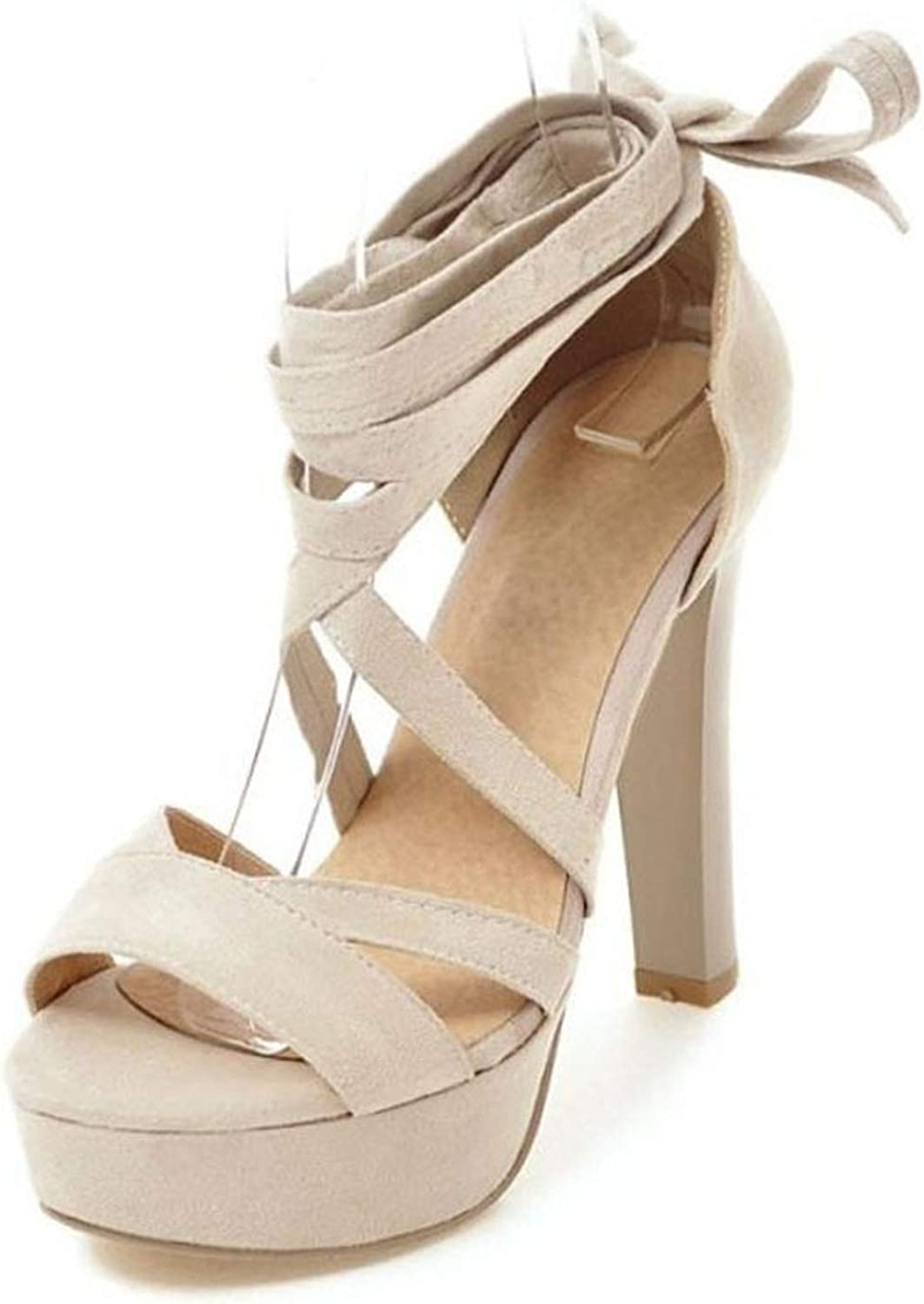 Fairly New Supper High Heels Platform Cross Tied Strappy shoes Sexy Party Gladiator,Beige,5