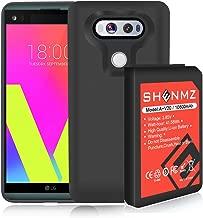 LG V20 Battery,10800mAh (More Than 3.37X Extra Battery Power) V20 Replacement Battery, LG V20 Extended Battery BL-44E1F with Black TPU Case for LG H910 H918 V995 LS997 Phone | LG V20 Battery Case