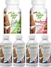 1 Month Weight Loss Program with 4 Swedish Diet Meal Replacement Bottles, 1 Bottle Each of Green Coffee Bean and Raspberry Ketones