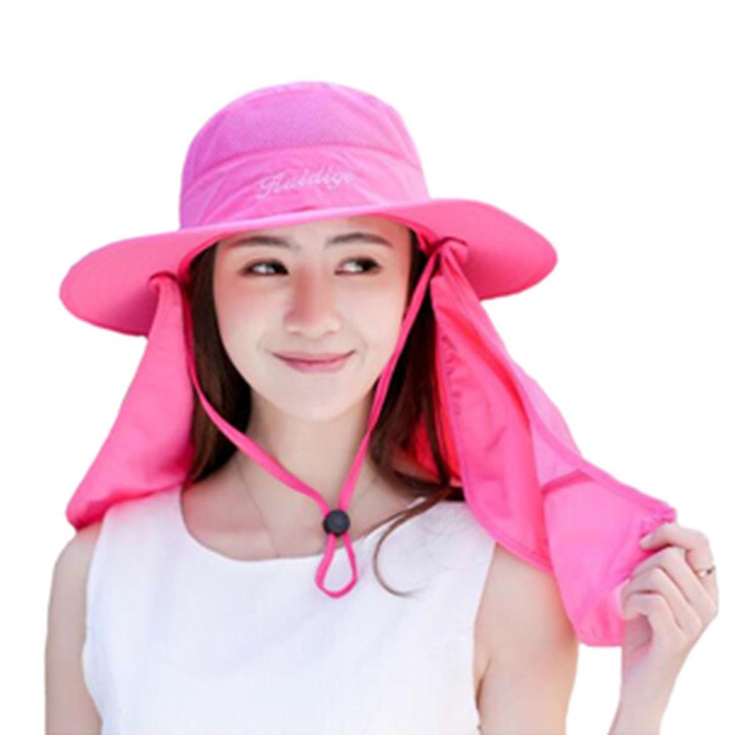学者磁器依存ファションヤ UVカット日よけ帽子 アウトドア つば広 日焼け防止に 紫外線対策 ネックカバー レディース フェイスカバー アームカバー レディース フィッシングハット