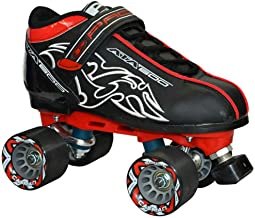 New! Customized Pacer Black ATA-600 Quad Roller Speed Skates w/Cayman Wheels