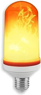 Solea de efecto Fuego LED Bombilla E27, plástico, 5 W, blanco cálido,