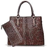 Manera de los bolsos de cocodrilo de las mujeres de negocios Cross-Body asa superior, las mujeres forman el bolso Set bolsos de hombro, desmontable Cruz cuerpo ajustable, bolso de mano, bolsos de homb