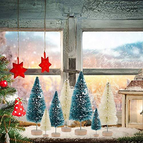 EWQK Künstlicher Weihnachtsbaum 34pcs sortierten Größen Mini Artificial DIY Weihnachten Kiefer Ornament-Dekorationen for Weihnachten Zuhause-Party-Desktop-Dekor Weihnachtsdekoration (Color : As Show)