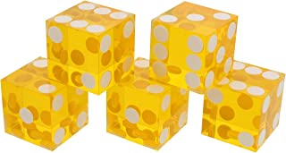 X-lion Set of 5 Grade AAA 19mm Casino Dice with Razor Edges