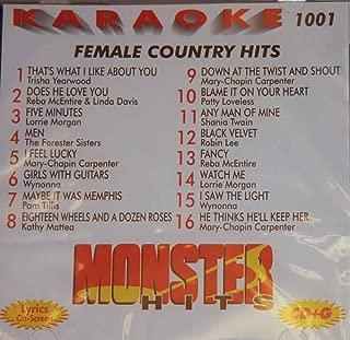 Monster Hits Karaoke Vol 1001 - Female Country Hits