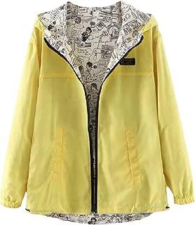 RkBaoye Women's Zip Up Leisure Long-Sleeve Pocket Over Sized Hoodie Coat Jacket
