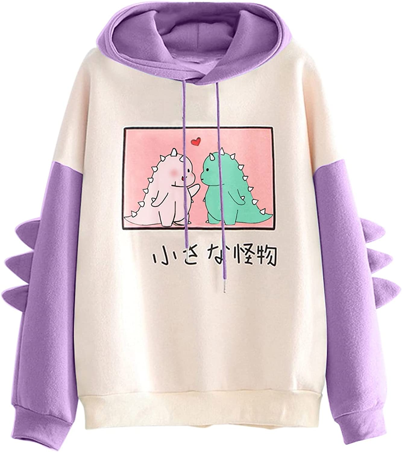 UOCUFY Hoodies for Women, Women's Casual Long Sleeve Sweatshirts with Pockets Crewneck Drawstring Hooded Pullover Top