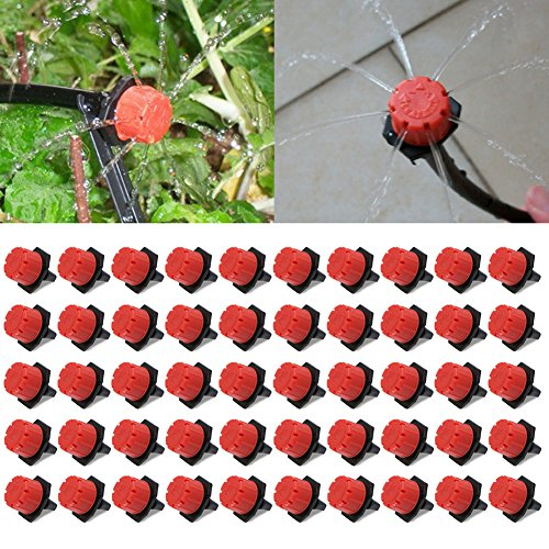 Aliciër 8-gaats tuin druppel Irrigatie Watering Emitter Micro Flow Dripper hoofd Barb Sprinkler Home Decor