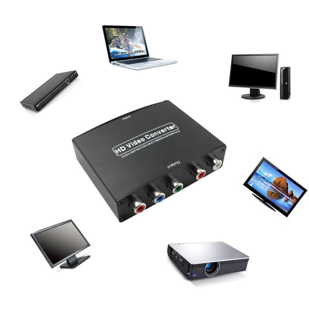 taottao RGB Componente (YPbPr) vídeo + R/L Audio adaptador convertidor HD TV a HDMI 1080p WP: Amazon.es: Deportes y aire libre