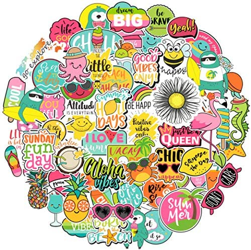 Cute Aesthetic Stickers for kid 57pcs Positive Lovely Trendy Good Vibes Sloth Sticker for Laptop product image