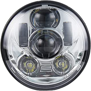 """Akmties Motorcycle Headlight 5.75 Inch 5 3/4"""" Round LED Projection Headlight Compatible for Motorcycle Street Bob Sportste..."""